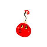Retro cartoon cherry bomb Royalty Free Stock Image