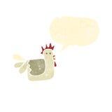 Retro cartoon chicken Stock Image