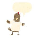 Retro cartoon chicken with speech bubble Royalty Free Stock Photography