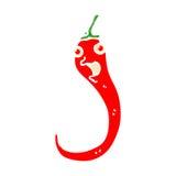 retro cartoon chilli pepper Stock Images