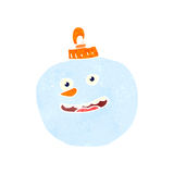 Retro cartoon christmas bauble Royalty Free Stock Images