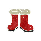 retro cartoon christmas boots Stock Images