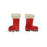 Retro cartoon christmas boots Royalty Free Stock Photography