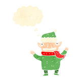Retro cartoon christmas elf Royalty Free Stock Photo