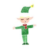 Retro cartoon christmas elf Stock Images