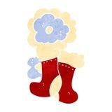 retro cartoon christmas stockings Royalty Free Stock Photos