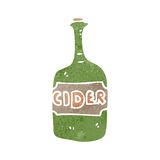 retro cartoon cider bottle Stock Photos