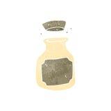 Retro cartoon clay kitchen pot Stock Image