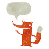 Retro cartoon clever fox Royalty Free Stock Photo