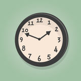 Retro cartoon clock Royalty Free Stock Photo