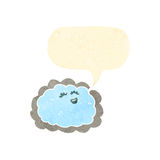 Retro cartoon cloud with silver lining Royalty Free Stock Photography