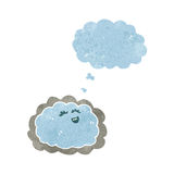 Retro cartoon cloud with silver lining Stock Image