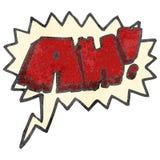 retro cartoon comic book AH! shout Stock Photography