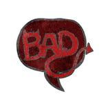 Retro cartoon comic book bad symbol Stock Photos