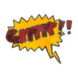 Retro cartoon comic book growl symbol Royalty Free Stock Photo