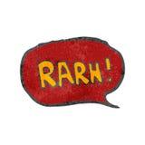 Retro cartoon comic book roar Royalty Free Stock Images