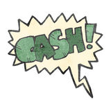 Retro cartoon comic book shout for cash Royalty Free Stock Photo