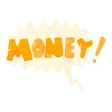 Retro cartoon comic book shout for money Royalty Free Stock Photos