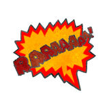 retro cartoon comic book symbol,roar Royalty Free Stock Photography