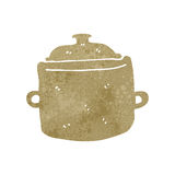 retro cartoon cooking pot Stock Photo