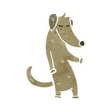 Retro cartoon cool dog Royalty Free Stock Images