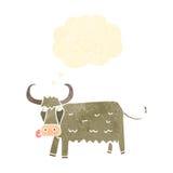 Retro cartoon cow Royalty Free Stock Image
