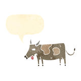 retro cartoon cow Stock Photo