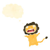 Retro cartoon cowardly lion Royalty Free Stock Photo