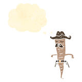 retro cartoon cowboy vegetable Stock Photography