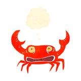 Retro cartoon crab Stock Images