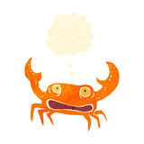 Retro cartoon crab Stock Photo