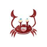 Retro cartoon crab Royalty Free Stock Image