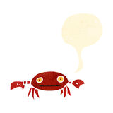 retro cartoon crab with speech bubble Stock Photography