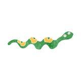 Retro cartoon crawling snake Royalty Free Stock Images