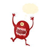 Retro cartoon crazy alien monster Stock Images