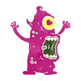 retro cartoon crazy monster Royalty Free Stock Photos