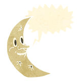 Retro cartoon cresent moon Royalty Free Stock Photo