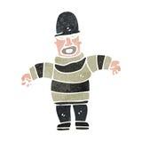 Retro cartoon criminal Royalty Free Stock Image