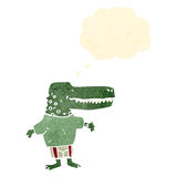 Retro cartoon crocodile Stock Images