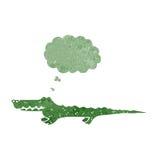 retro cartoon crocodile Stock Photo