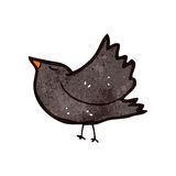 Retro cartoon crow Stock Images