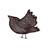 Retro cartoon crow Stock Images