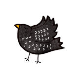 Retro cartoon crow Stock Photography