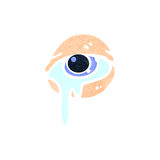 Retro cartoon crying eye Stock Images