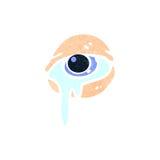 retro cartoon crying eye Stock Images