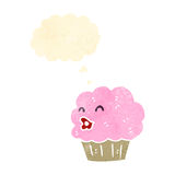 Retro cartoon cupcake Royalty Free Stock Images