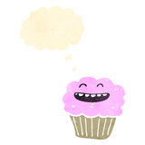 Retro cartoon cupcake Royalty Free Stock Image