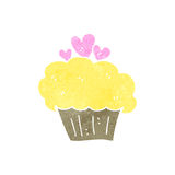 Retro cartoon cupcake Stock Photo