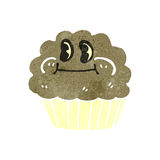 Retro cartoon cupcake Stock Photography