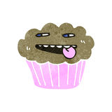 Retro cartoon cupcake Royalty Free Stock Photo